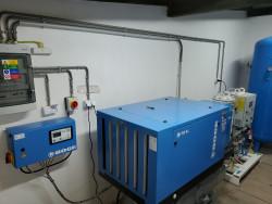 Dodávka a montáž zariadení na výrobu technických plynov, ktoré sú vyrobené zo stlačeného vzduchu: